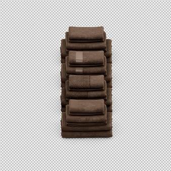Изометрические полотенца 3d изолированные визуализации