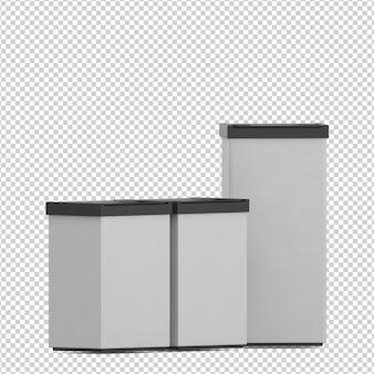 Isometric trash