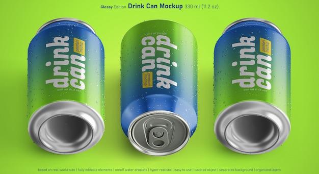 아이소 메트릭 트리플 소다 음료 금속 캔 혼합 위치 모형