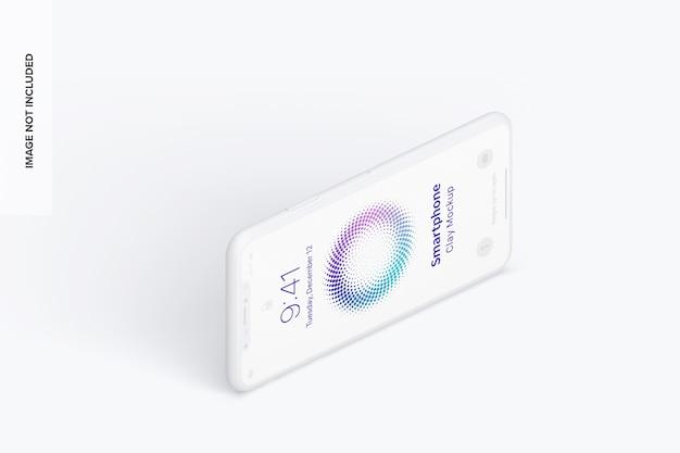 アイソメビュースマートフォンモックアップ