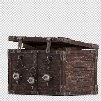 Isometric vintage box