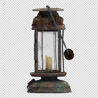 Isometric vintage lantern