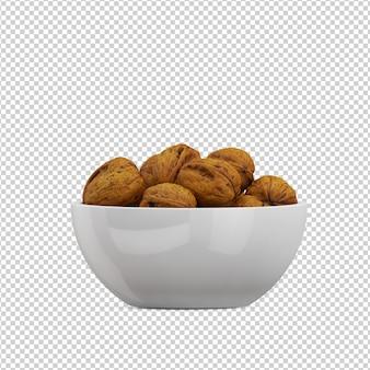 Isometric walnut