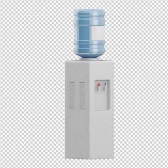 Isometric water dispenser