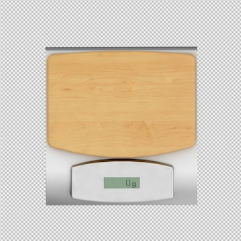 Isometric weigh scales 3d render