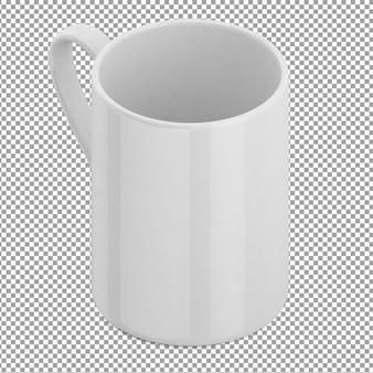 Isometric white mug