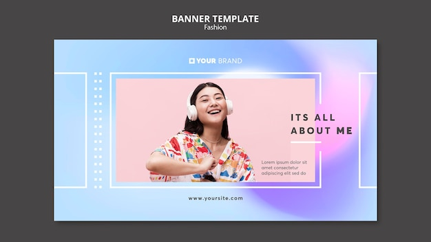 It is all about me fashion banner template