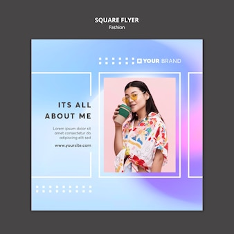It's all about me fashion square flyer template Free Psd