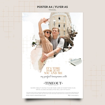 It's time for travel poster template