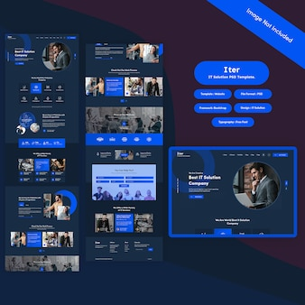 It service & solution psd template