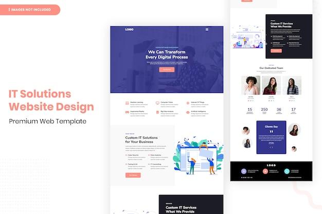 Шаблон дизайна веб-сайта ит-решений