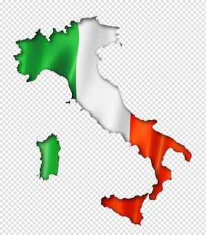 Итальянский флаг карта