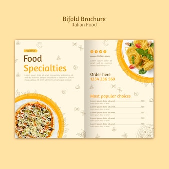 Italian food bifold brochure