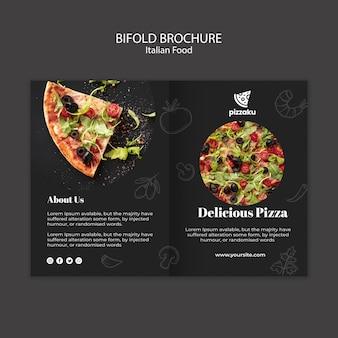 イタリア料理-パンフレットカードテンプレート