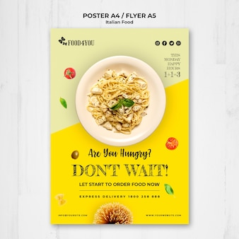 Italian food concept flyer  template