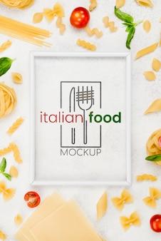 Итальянская кухня с макаронами
