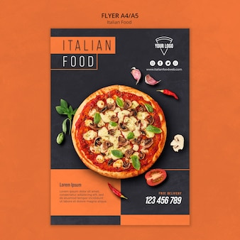 Italian food flyer template
