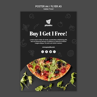 Italian food poster template theme