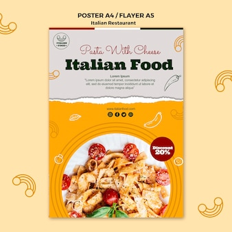Italian food poster with promotion