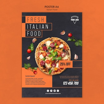 이탈리아 음식 포스터