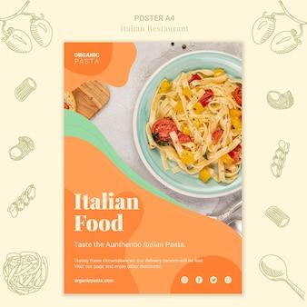 Italian restaurant poster design Free Psd