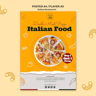 Italian restaurant poster with offer