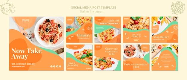 Italian restaurant social media post