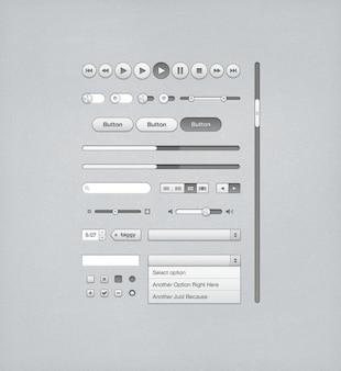 Itunesのための灰色のuiキット