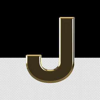 Jレターテキストエフェクトオイル