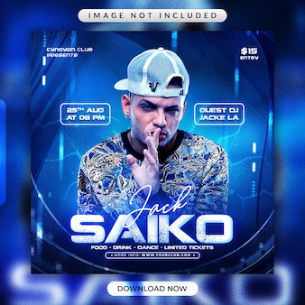 Jack saiko flyer or social media promotional banner template