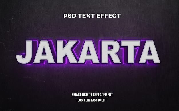 Джакарта эффект свечения текста