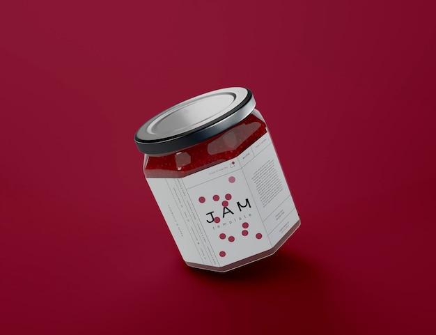 Мокап jam jar