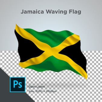 Jamaica flag wave transparent psd