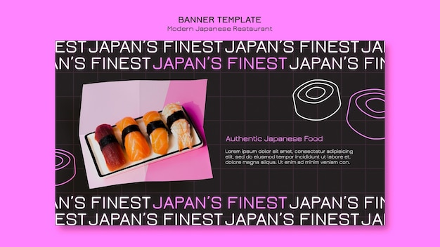 Japan's finest sushi banner template