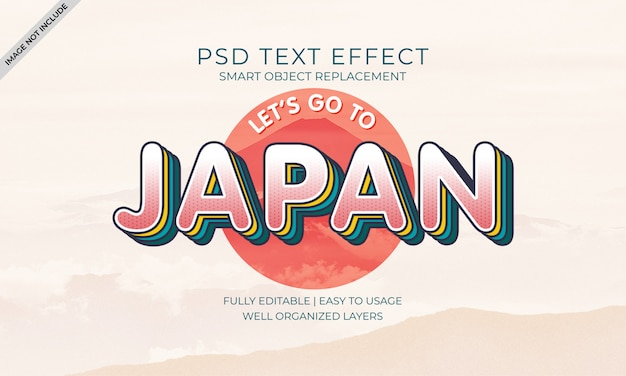 Japan text effect