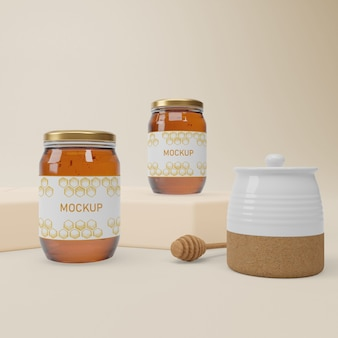 Jar collection with organic honey