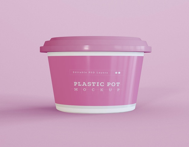 Jar packaging mockup