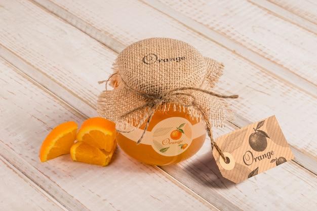 Баночка с апельсиновым вкусом меда