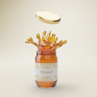Jar with organic honey