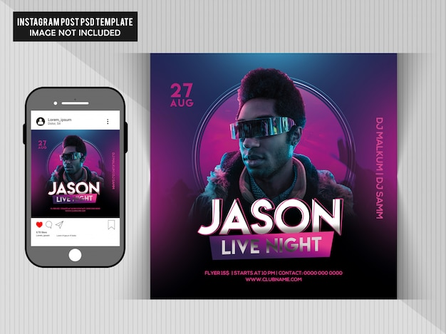 Jason live party flyer