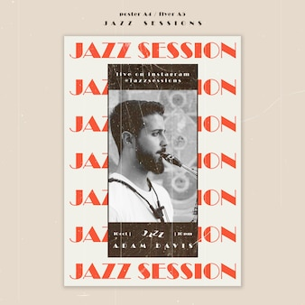 Jazz concept flyer template