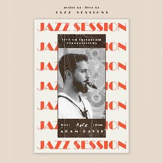 Jazz concept flyer template