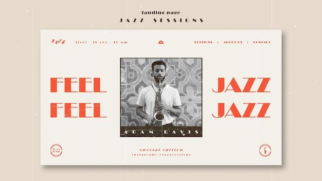 Modello di pagina di destinazione del concetto di jazz