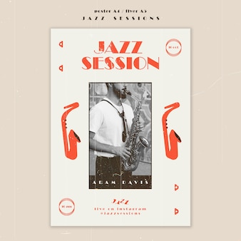 Modello di poster del concetto di jazz