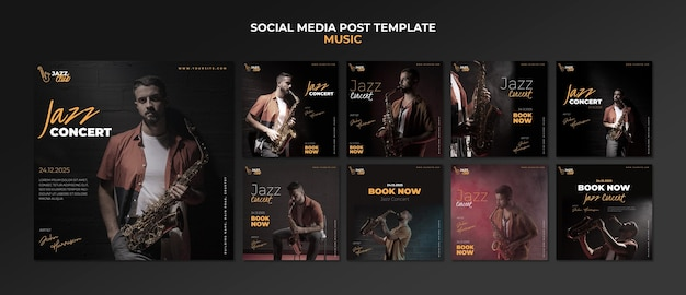 재즈 콘서트 소셜 미디어 게시물