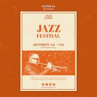 Jazz festival poster template