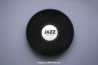 Jazz vinyl mockup