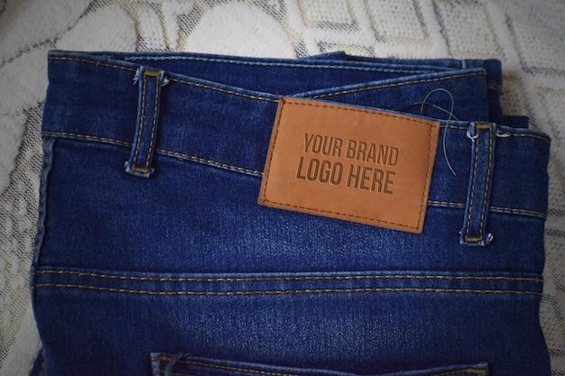 Jeans brand mockup design