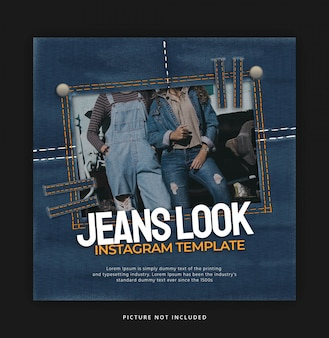 Jeans look instagram banner