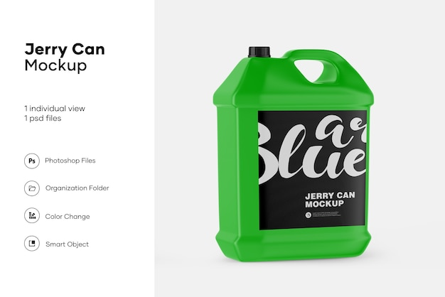 Jerry can mockup design isolated